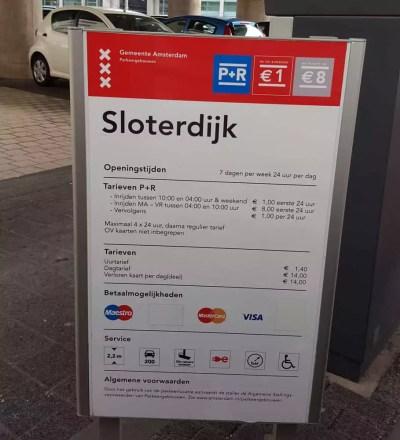 P+R Sloterdijk Infotafel