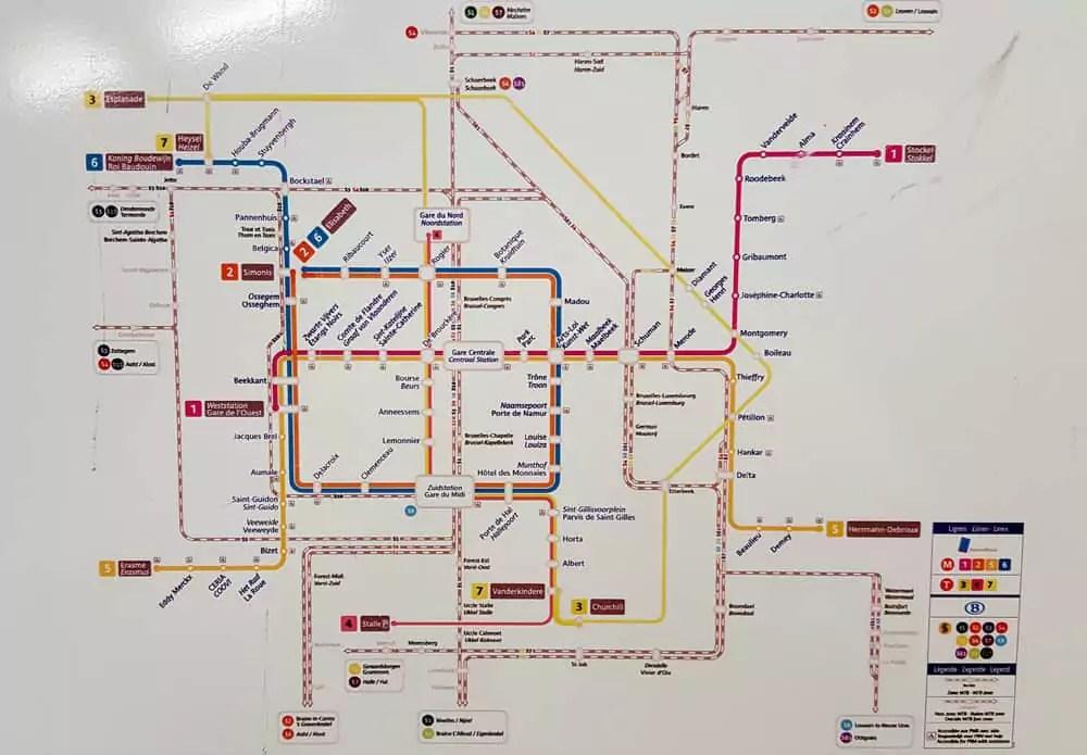 Informationen Brüssel Metro - Streckennetz