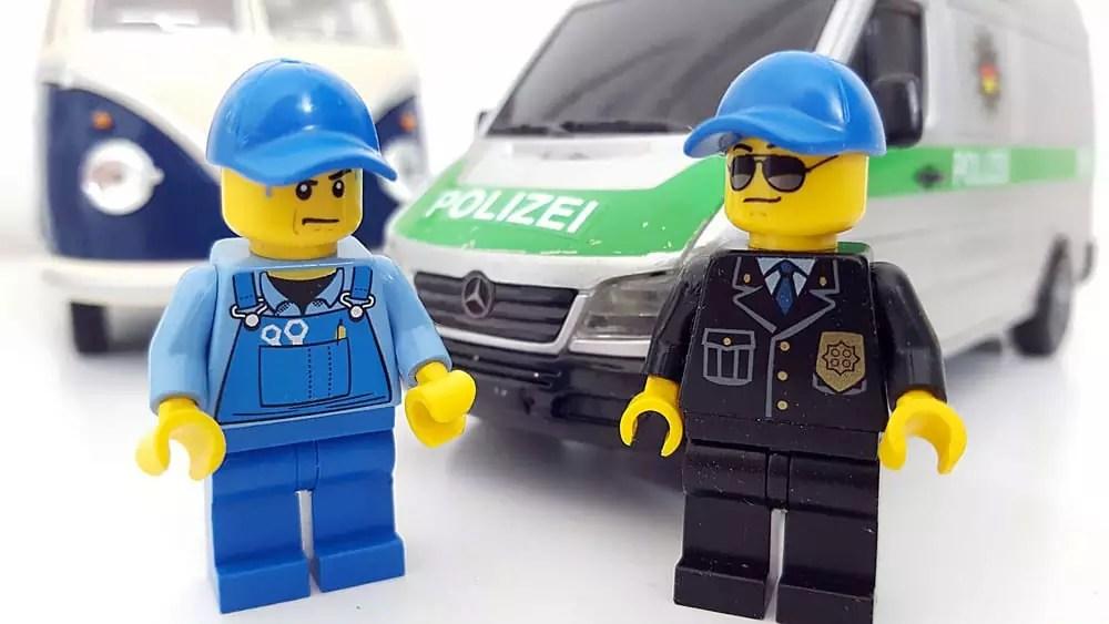 Frei stehen in Belgien und unsere Begegnung mit der Polizei