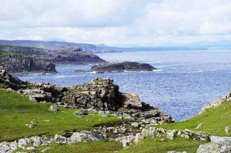 Klippen Strathy Point Schottland
