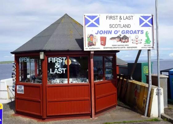Souvenirs John o Groats Schottland
