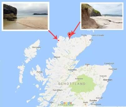 2 Traumstrände in Schottland Highlands