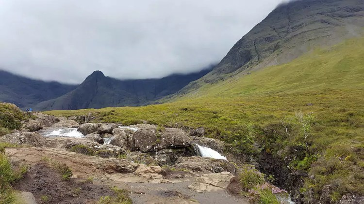 mystische Fairy Pools Landschaft