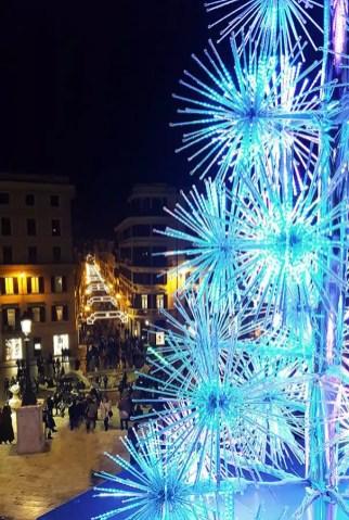 Weihnachtsbeleuchtung in Rom