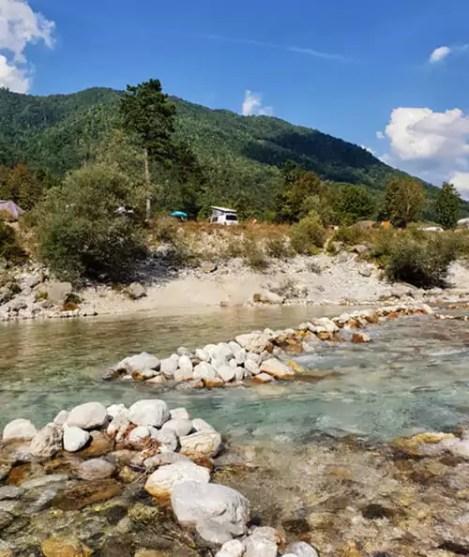 Camping Soca Tal - Campingplatzempfehlung für Besuch der Tolminer Klammen