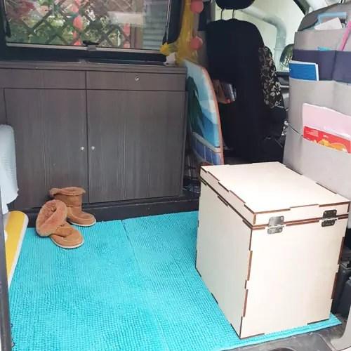 Trenntoilette im VW-Bus