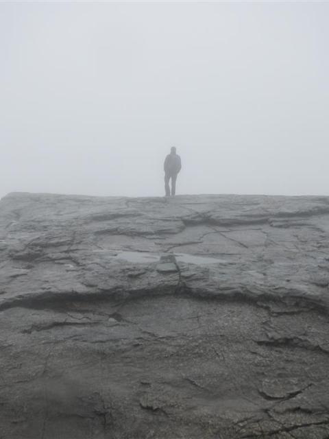 Predigtstuhl im Nebel Norwegen