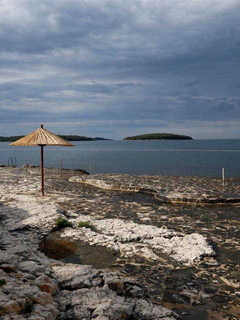 Badestelle an der Adria, Kroatien