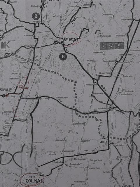 Karte Elsass