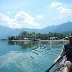 Kajak fahren auf dem Caldonazzo See