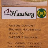 Stellplatz am Biohof Hausberg