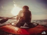 Kayak Tour auf dem Meer