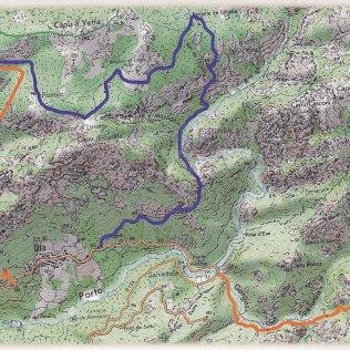 Spelonca-Wanderung-Karte
