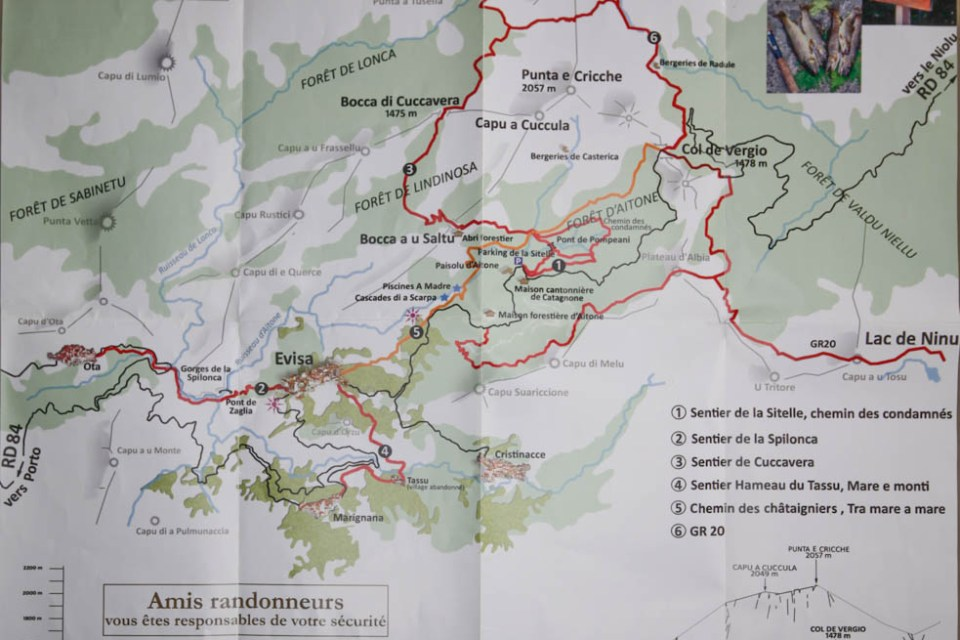 Wanderwege Region Evisa