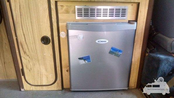 Kühlschrank für 220V im Bus