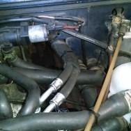 Ölleitungen nach vorn zum Ölkühler im VW T3