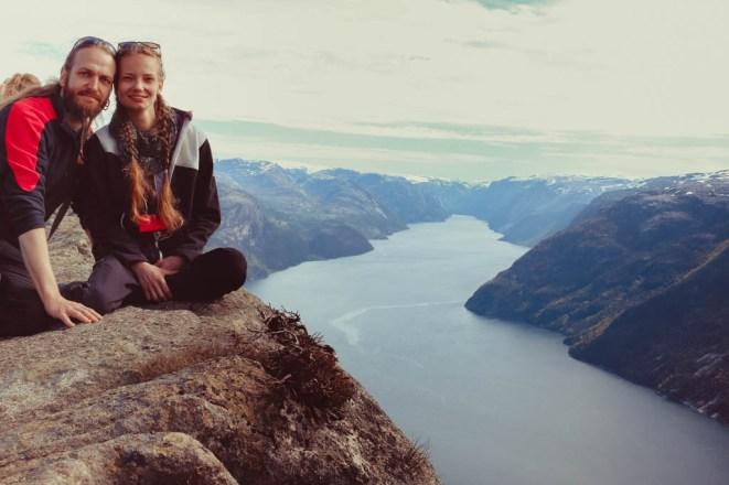 Wanderung auf den Preikestolen in Norwegen