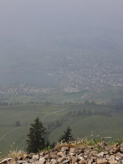 Sich vom Berg in der Schweiz