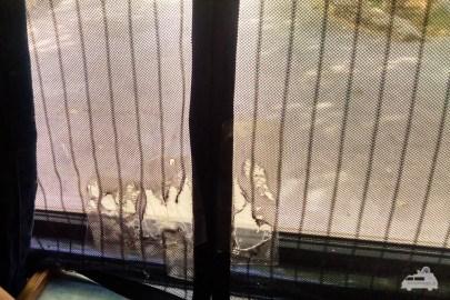 Fliegennetz Küchenfenster VW Bus T3