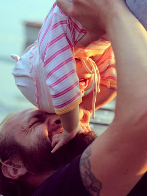 Papa und Kind Zeit
