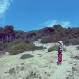 Wandern mit Kind am Strand