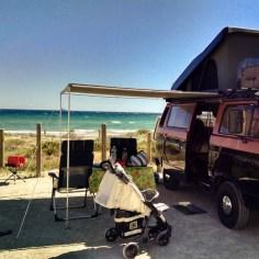 Campingplatz mit Meerblick