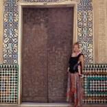 Verzierte Tür der Alhambra