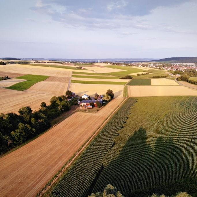 Drohnenfoto bei Heilbronn