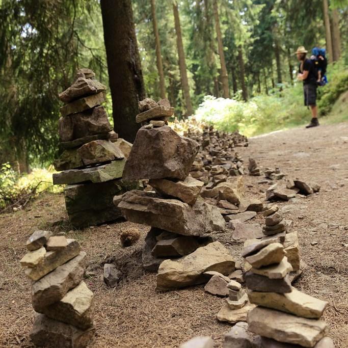 Steinhaufen in Hahnenklee am Liebesbankweg