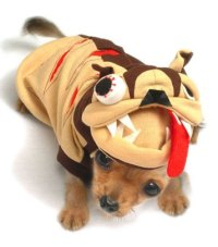 Dog in a Monster Costume