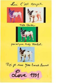 Yves Saint Laurent French Bulldog Moujik Andy Warhol Poster