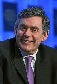 Prime Minister Gordon Brown, still denying that Britain's Dangerous Dog is a complete and utter failure...