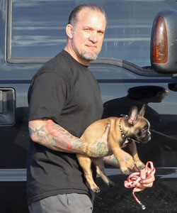 Jesse James Holds His New French Bulldog Pierre