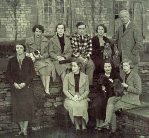 The Mitford sisters, with Nancy Mitford holding Lottie