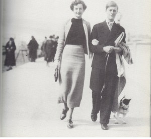 Nancy and husband Peter Rodd at Brighton, with Lottie