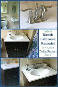 1960's Ranch Bathroom Remodel - Delta Linden Lavatory Faucet