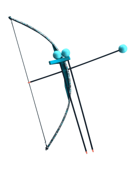 Teal Camo Toy Bow And Arrow Trainer