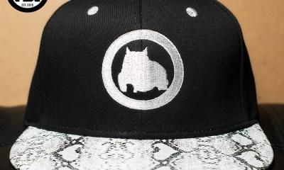 BGM Snapback Cap with Snake Skin Brim