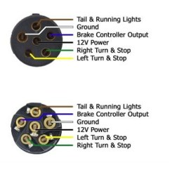 Semi Truck Trailer Plug Wiring Diagram 2004 Jeep Wrangler Tj How To Wire Lights Instructions 6 Way Connector