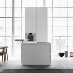 Furniture For Kitchen Planning Guide Bulthaup B1 Purism In White Arranged The Essentials Link Ergonomics And