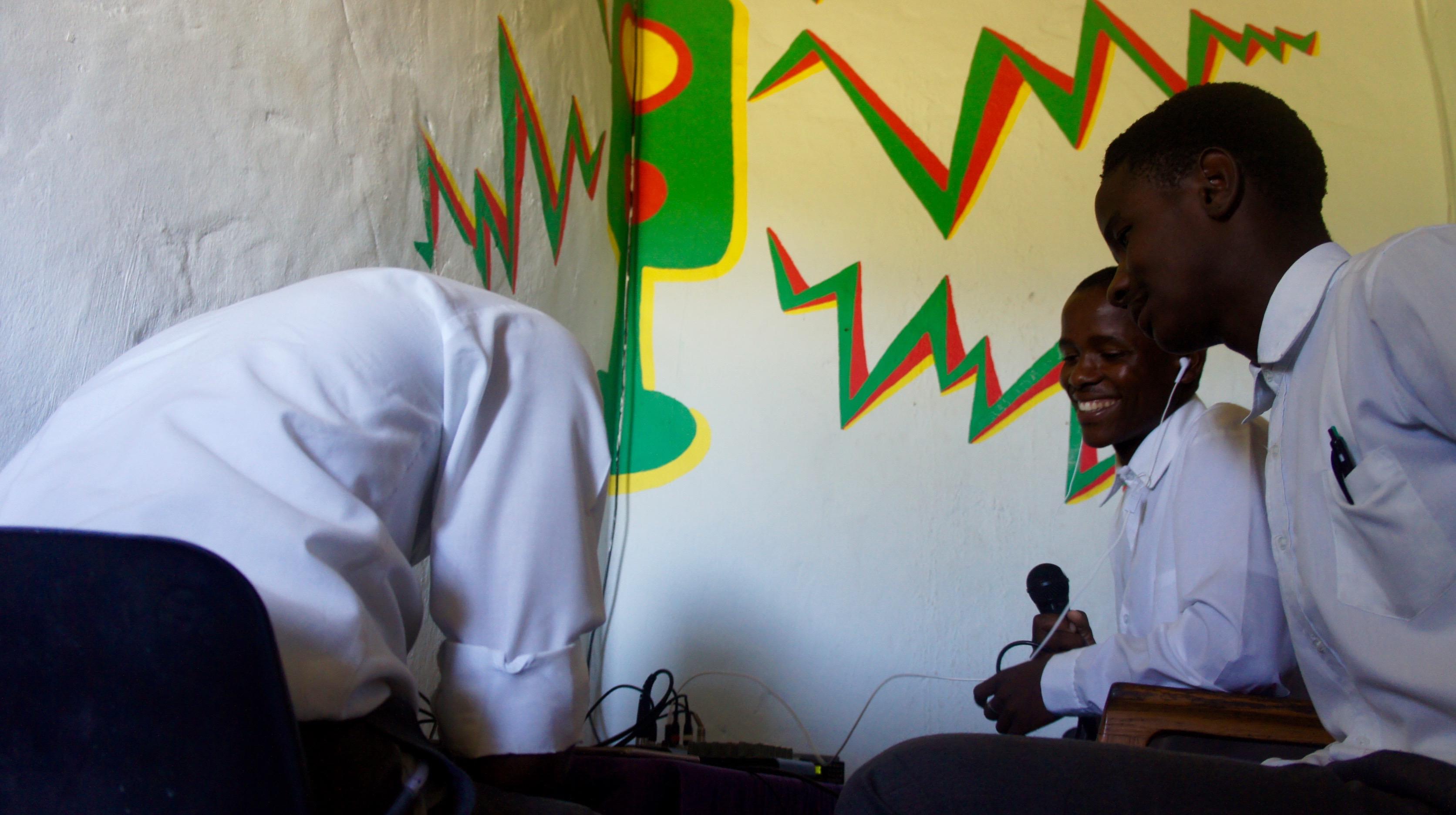 Performing radio show at the Bulungula Radio Station!