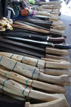 Handmade bolos and knives also from Bacon, Sorsogon