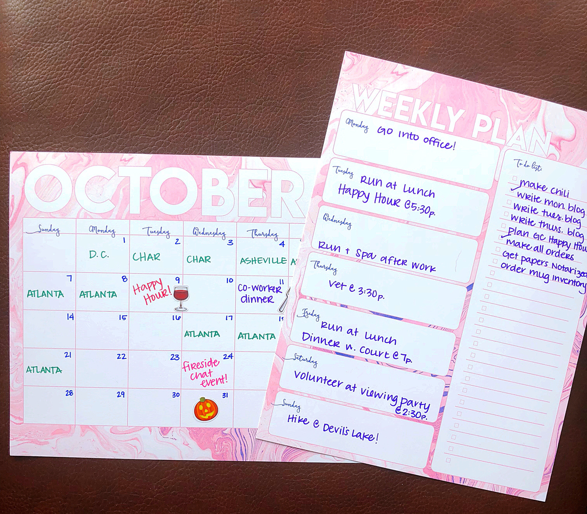 october goal setting plus free planning printables bumble and bustle
