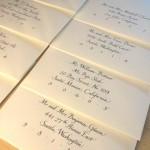 bumbleBdesign - Italic Calligraphy, wedding envelopes, Seattle, WA, seattle calligraphy