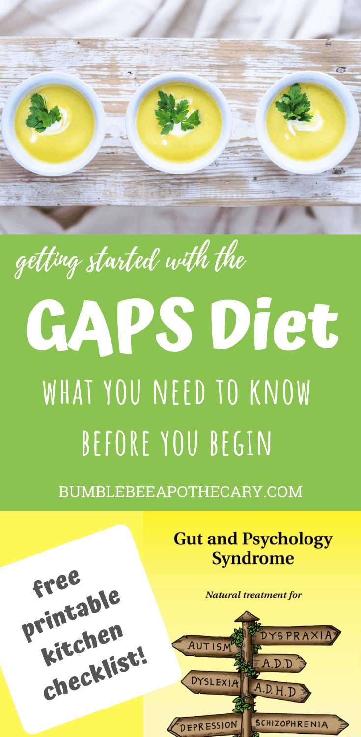 Getting started with the GAPS diet: what you need to know before you begin | Includes a free printable kitchen checklist! #gaps #gapsdiet #healleakygut #healautism #healallergies #healeczema #heal
