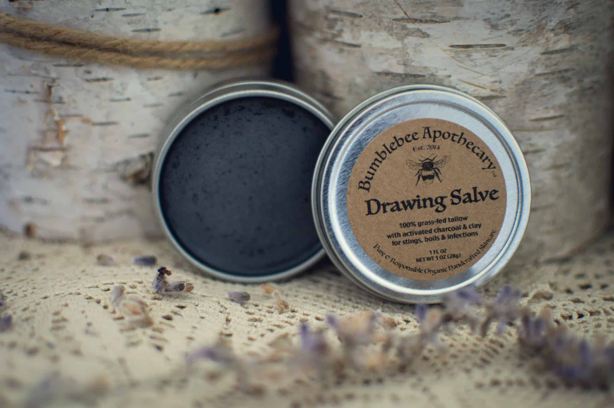 Ingredients needed to make this black drawing salve Natural