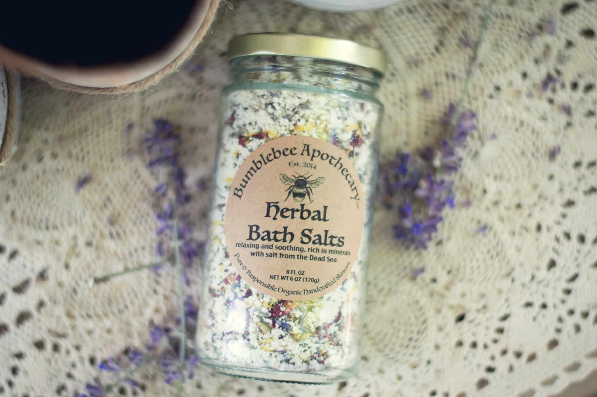 Herbal bath salts recipe Dead Sea salt