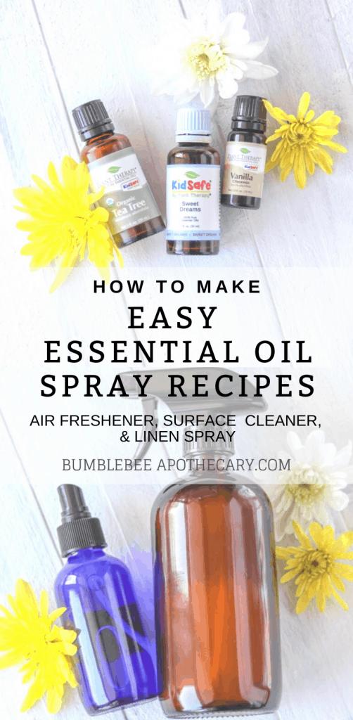Easy essential oil spray recipes #essentialoils #recipes #home