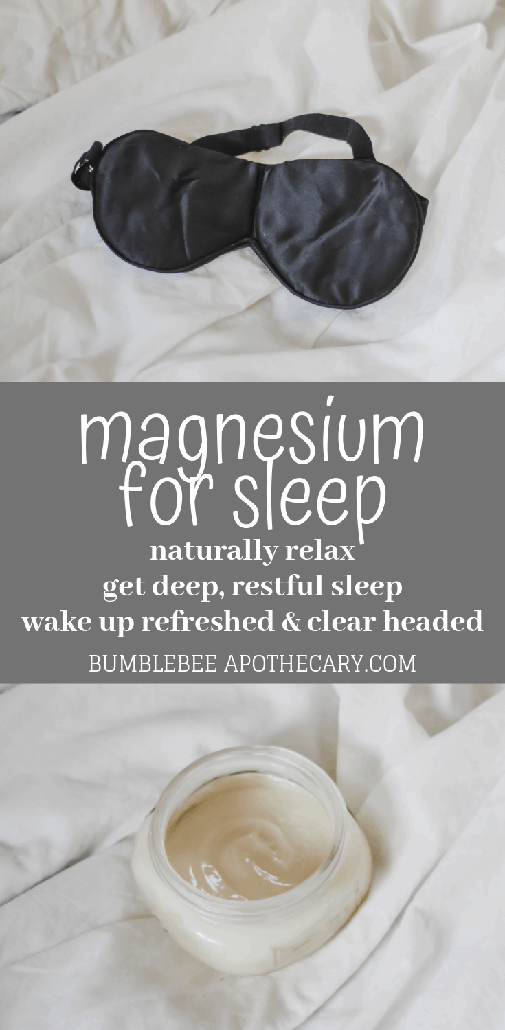 Magnesium for sleep - naturally relax and get deep, restful sleep, wake up refreshed and clear headed #magnesium #magnesiumdeficiency #sleep #naturalremedies #insomnia