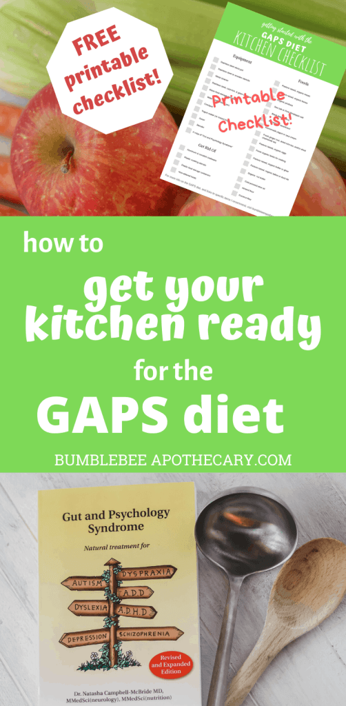 How to get your kitchen ready for the GAPS diet with a free printable checklist #gapsdiet #healleakygut